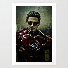 Tony Stark in Iron man costume  Art Print