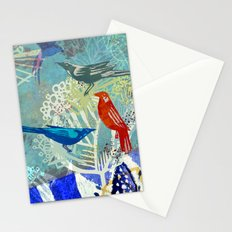 Birds in the backyard. Stationery Cards