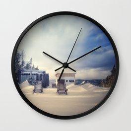 Ski resort 3 Wall Clock