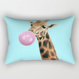 Giraffe with bubble gum Rectangular Pillow