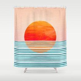 Minimalist Sunset III Shower Curtain