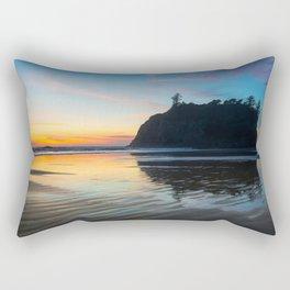 Ocean Dreams - Sunset Silhouette Along Ruby Beach in Washington Rectangular Pillow