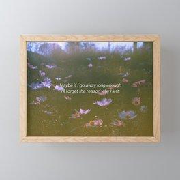 mood quote 01 Framed Mini Art Print