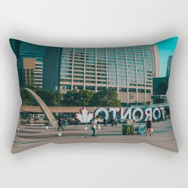 Nathan Phillips square late evening Rollin on Rectangular Pillow