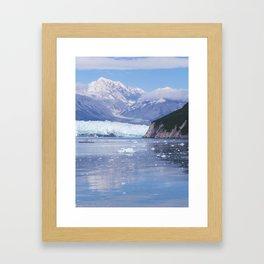 Glacier Summit Reflection Framed Art Print