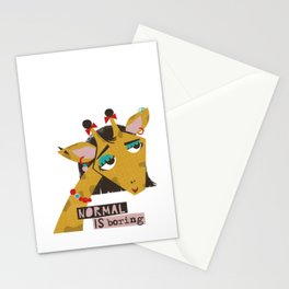 Stylish giraffe Stationery Cards