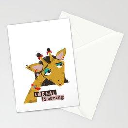 Stylish giraffe Stationery Cards