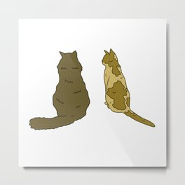 Cats From The Back Metal Print