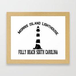 Folly Beach - South Carolina. Framed Art Print