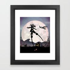 Jack Skellington Kid Framed Art Print