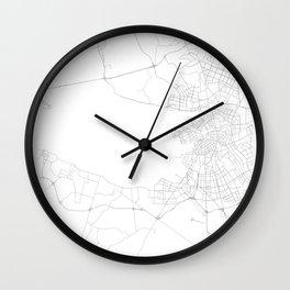 Saint Petersburg, Russia Minimalist Map Wall Clock
