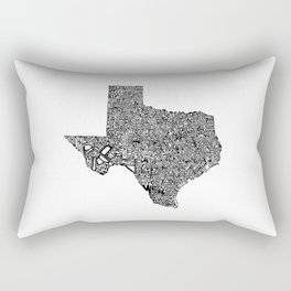 Typographic Texas Rectangular Pillow