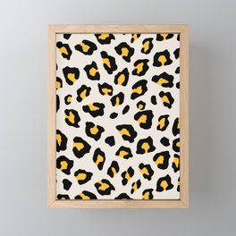 Leopard Print - Mustard Yellow Framed Mini Art Print