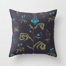 Gothic Botanical Pattern I Throw Pillow