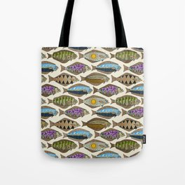 Alaskan halibut pearl Tote Bag
