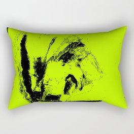 Abstract Green digital art Rectangular Pillow