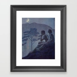 """""""Give me nights perfectly quiet... and I looking up at the stars"""" Framed Art Print"""