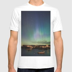 Lanescove Aurora Mens Fitted Tee MEDIUM White