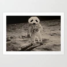 One Small Step For Man, One Giant Panda For Mankind Art Print