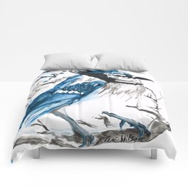 True Blue Jay Comforters