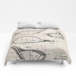 Golf Driver Patent - Golf Art - Antique Comforters