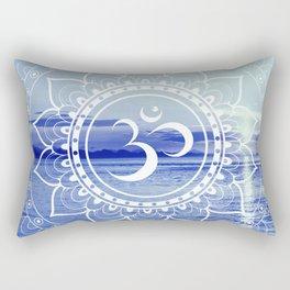 Om Mandala : Blue Waters Rectangular Pillow