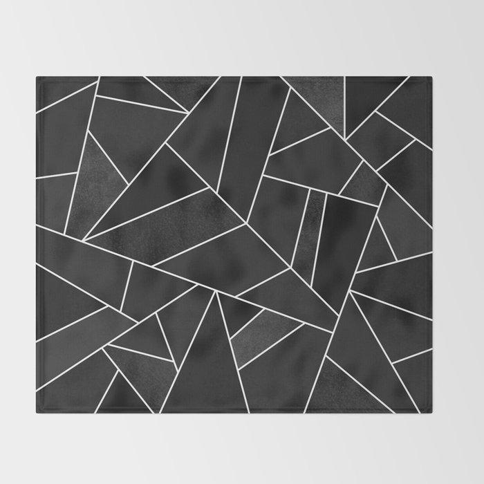 Black Stone Throw Blanket