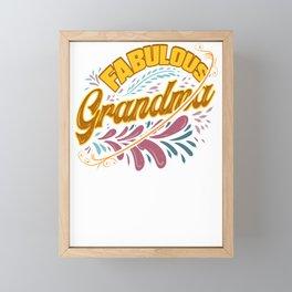 Family Fun Grandmother Fabulous Grandma Framed Mini Art Print