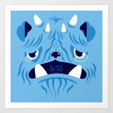 The Bluest Monster Ever :(( Art Print