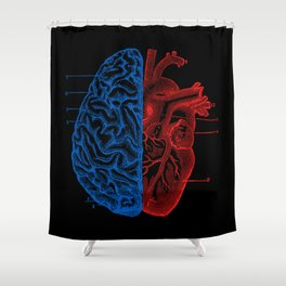 Heart and Brain Shower Curtain