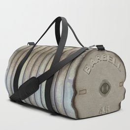 """Do you even lift bro?"" Olympic Dumbbell Weights Athletic Sports Gym Bag Designed by duffletrouble Duffle Bag"