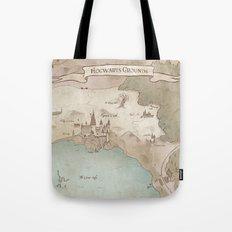Map of Hogwarts Tote Bag