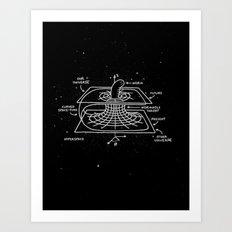 Cosmic Wormhole Art Print