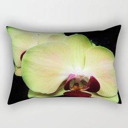 Green Orchids Rectangular Pillow