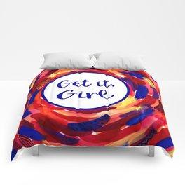 Feminist Art: Get it, Girl, Abstract, Girl Power, Feminism Comforters