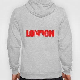 London Skyline Red Hoody