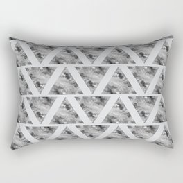 Marble Stone Grey Arrows Triangle Chevron Rectangular Pillow