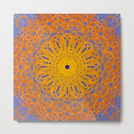 Symmetry 12: Sunflower Metal Print