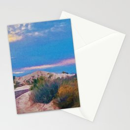 White Sands New Mexico at Dusk Stationery Cards