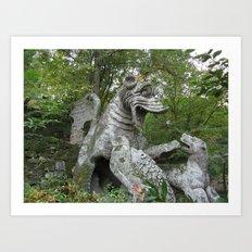 Bomarzo Dragon Art Print