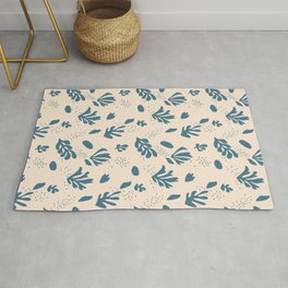 Modern pattern-Matisse-Petals. Rug