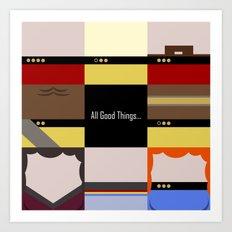 All Good Things - square Minimalist Star Trek TNG The Next Generation 1701 D  startrek  Trektangles Art Print