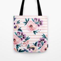 Victoria Blushing Stripe Tote Bag