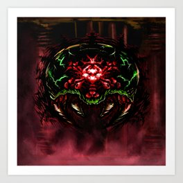Super Metroid: Angry Baby Art Print
