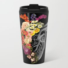 Flower Heart Spring Metal Travel Mug