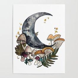 Mushroom Moon Poster