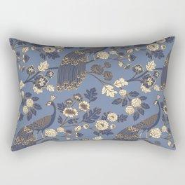 Peacock Garden {Eastern Blue} Rectangular Pillow
