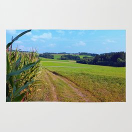 Hiking trail into beautiful scenery | landscape photography Rug