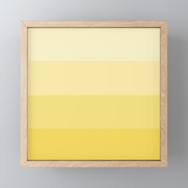 Four Shades of Yellow Framed Mini Art Print