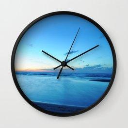 glass-like waters Wall Clock